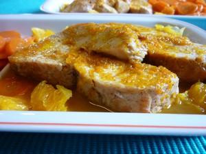 Rôti de dinde sauce à l'orange