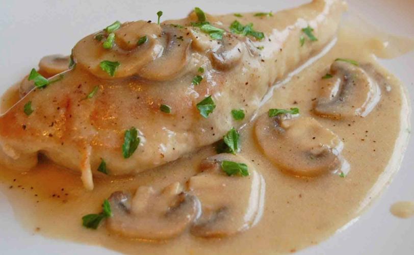 Cuisse de poulet sauce champignons